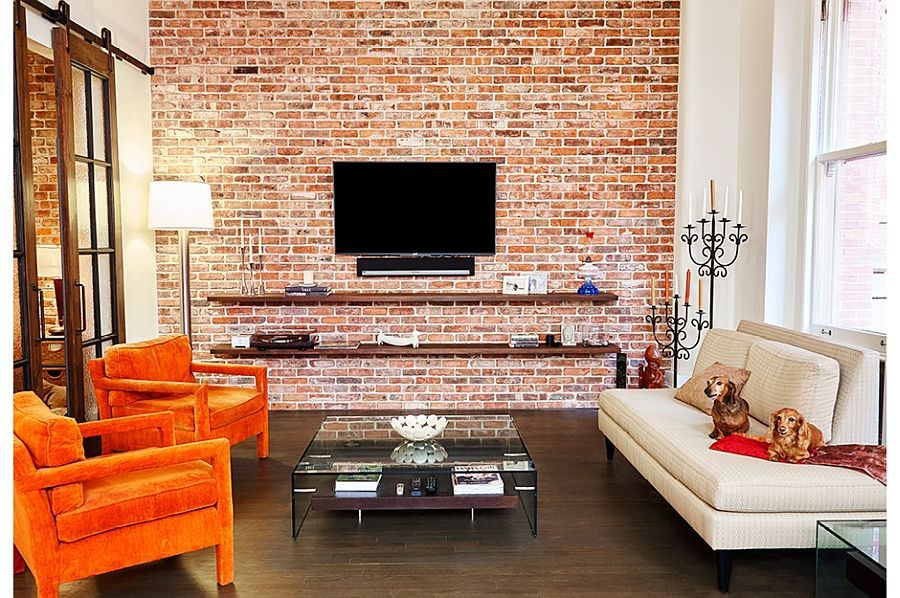 Wood, Brick and Refined Panache Modern Industrial Wall Street Loft is part of Modern Home Accents Exposed Brick - Contemporary lofts with an industrial flavor definitely draw their inspiration from the various neighborhoods of New York City and its revitalized industrial buildings  The Wall Street Loft renovated by Lauren Rubin Architecture epitomizes this modern industrial revival with delightful use of contrasting textures and styles  The smart loft captivates with a blend of exposed brick […]
