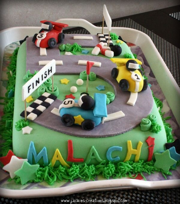 race track cake Google Search 6th birthday ideas Pinterest