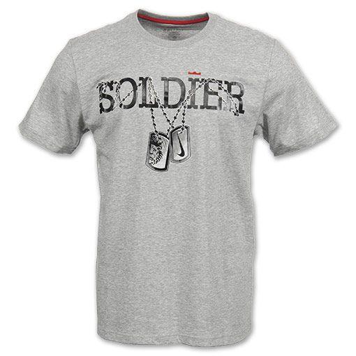 Así llamado En la mayoría de los casos recurso  NIKE LeBron Soldier Dog Tag Men's Tee Shirt $30.00   Lebron james soldier,  Mens tee shirts, Nike men