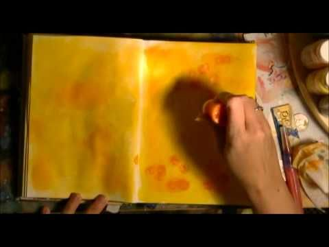 Art Journaling Background Acrylic Paint Scrubbing by StarS - YouTube