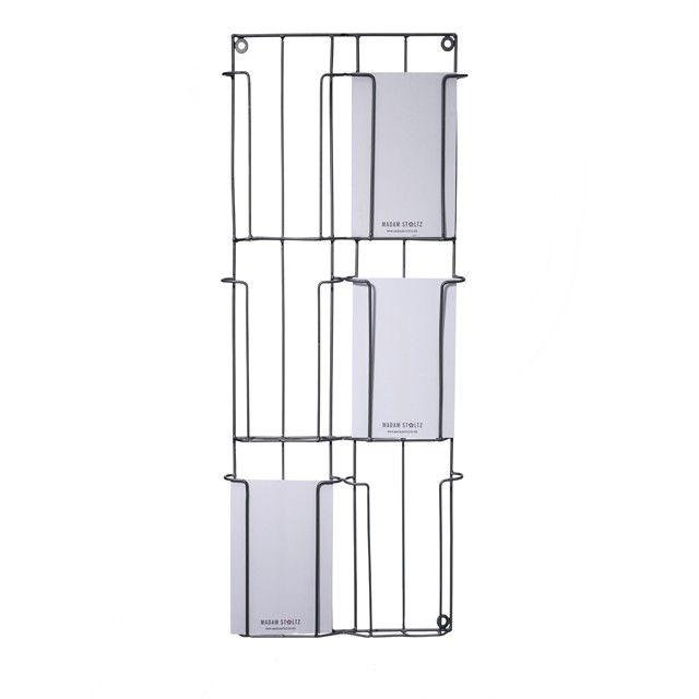 p\u003ePorte cartes-postales en métal gris à fixer au mur ou sur une - installer un cadre de porte