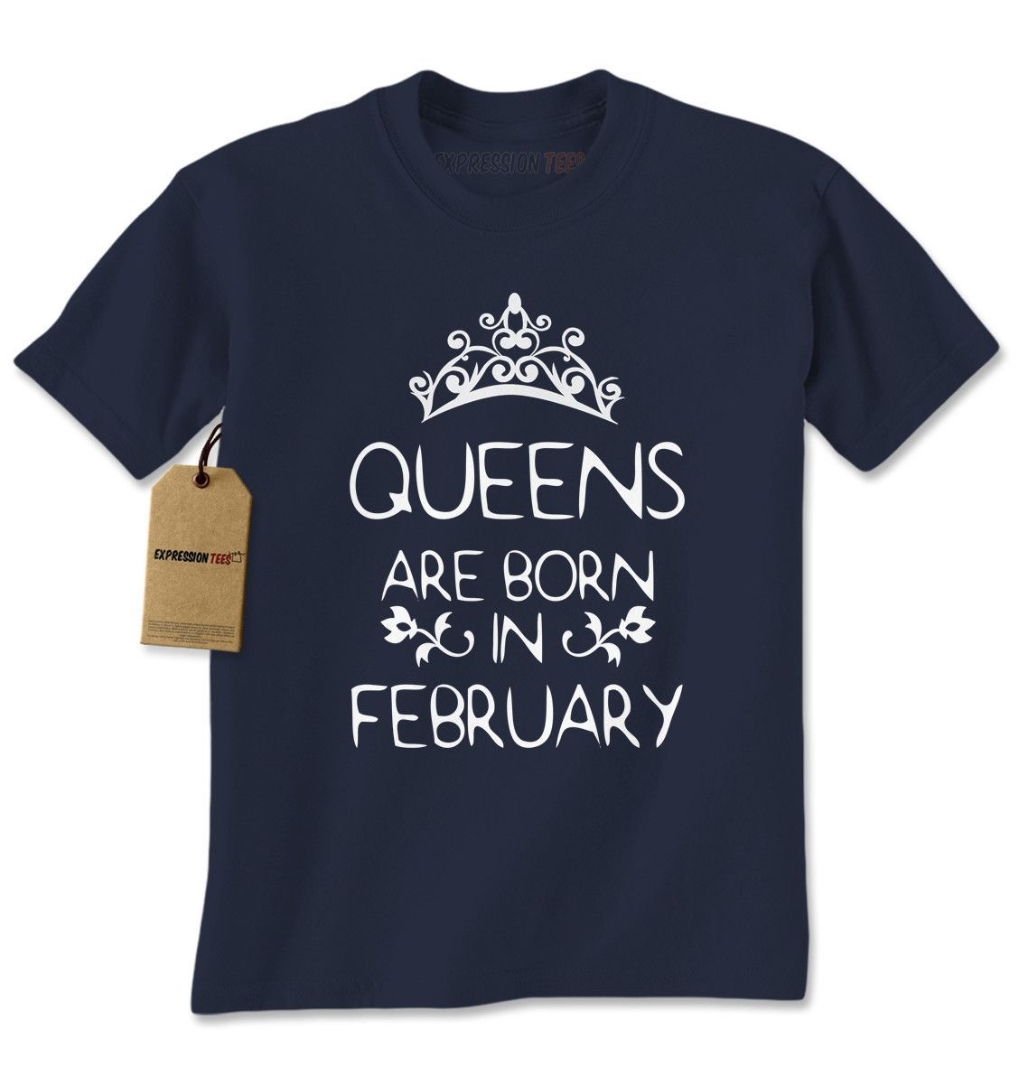 Queens Are Born In February Mens T-shirt