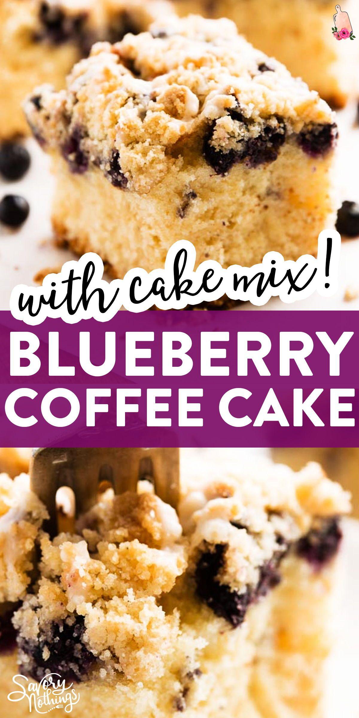Lemon Blueberry Sour Cream Coffee Cake With Cake Mix In 2020 Blueberry Coffee Cake Recipe Blueberry Sour Cream Cake Coffee Cake Recipes Easy