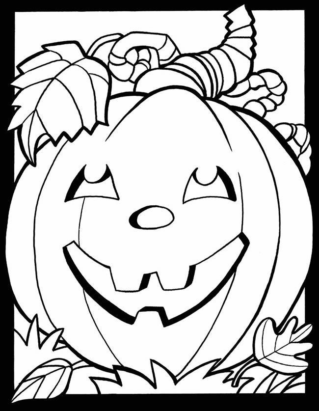 Kleurplaat Pompoen Halloween Pinterest Halloween Herfst