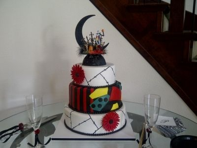 Nightmare Before Christmas Wedding By Jess1019 on CakeCentral