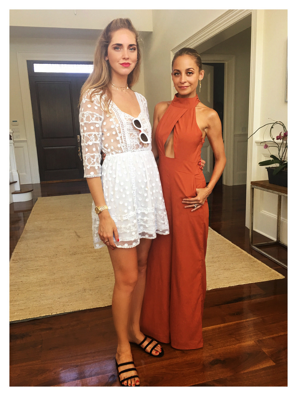 Wearing a Tularosadress to meet Nicole Richie at House Of Harlow 1960