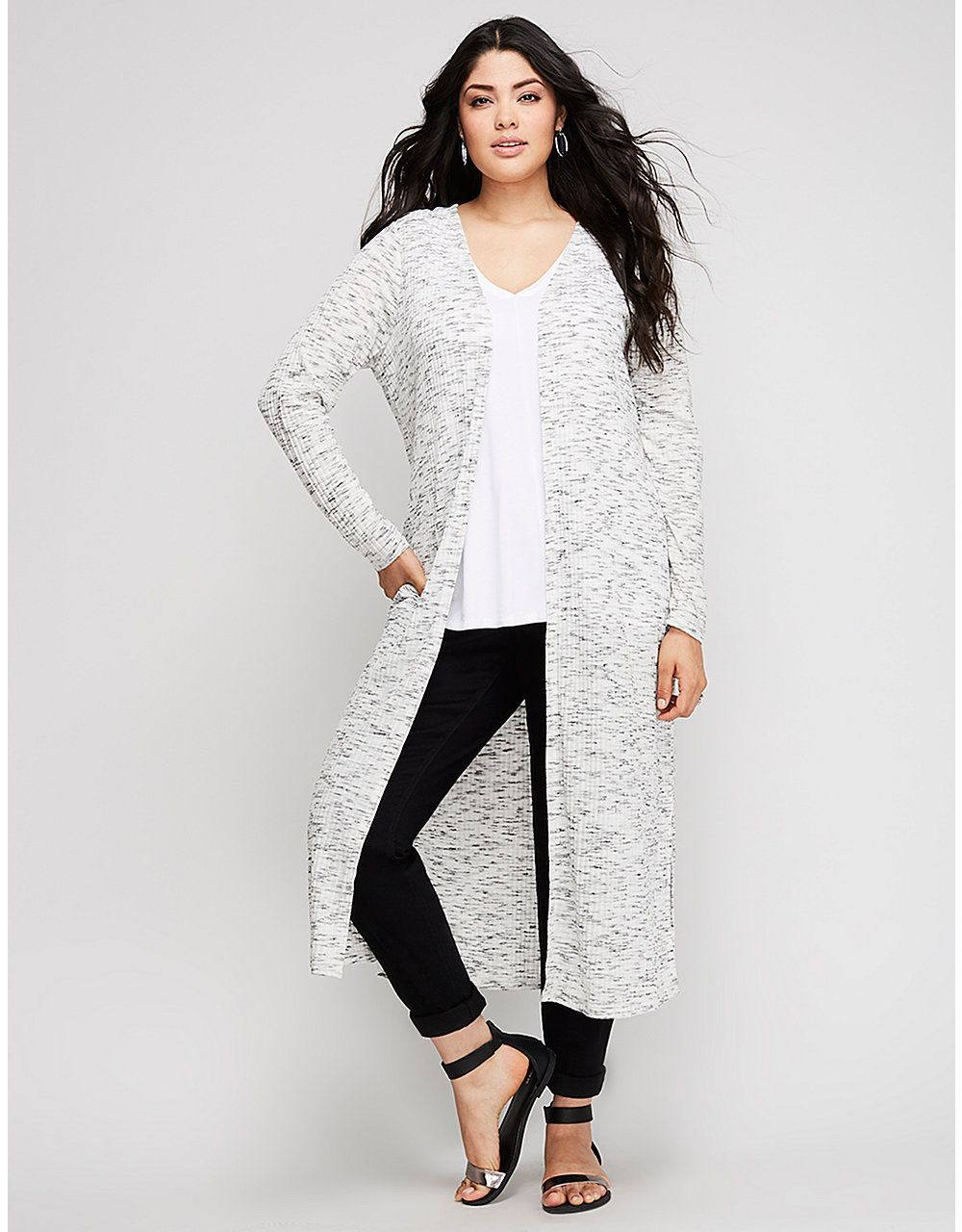 5d713de4478 Plus Size Fashion Tops For Women. Marled Duster Overpiece