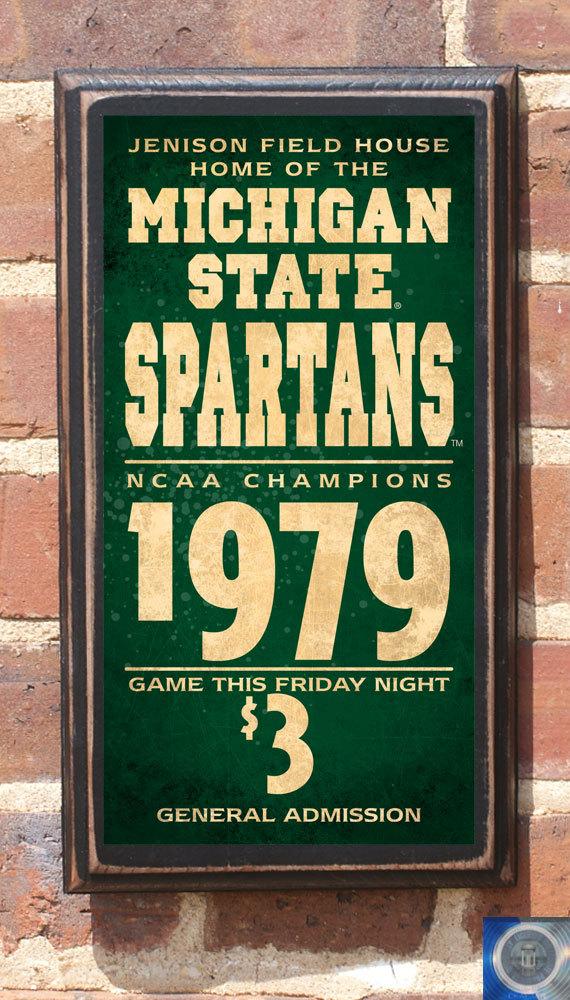 Michigan State Spartans Basketball Wall Art Sign Plaque Gift Etsy Basketball Wall Art Basketball Wall Wall Art Sign