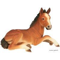 Poulain en résine 60 cm, figurine déco extérieur, animal de la ferme ...