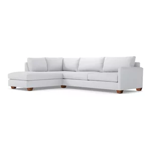 Tremendous Tuxedo 2 Piece Sectional Sofa Transitional Sectional Machost Co Dining Chair Design Ideas Machostcouk