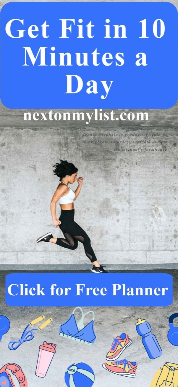 10-minute exercise daily has been shown to be as effective as 30 minutes a day. Good news for busy p...