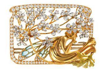 Art Nouveau fairy buckle or brooch