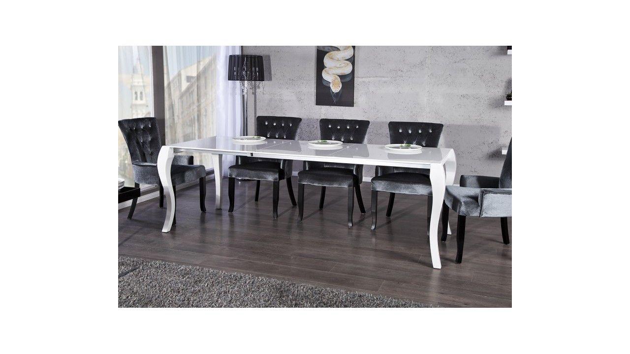 Table baroque extensible blanche Letizia | Salle à manger design ...