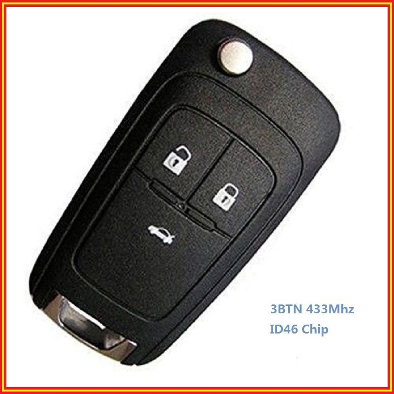 New Uncut Remote Control Key Fob 3 Buttons 433mhz For Vauxhall