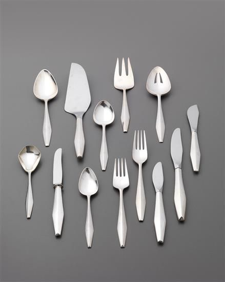 "A set of Gio Ponti's ""Diamond"" flatware"