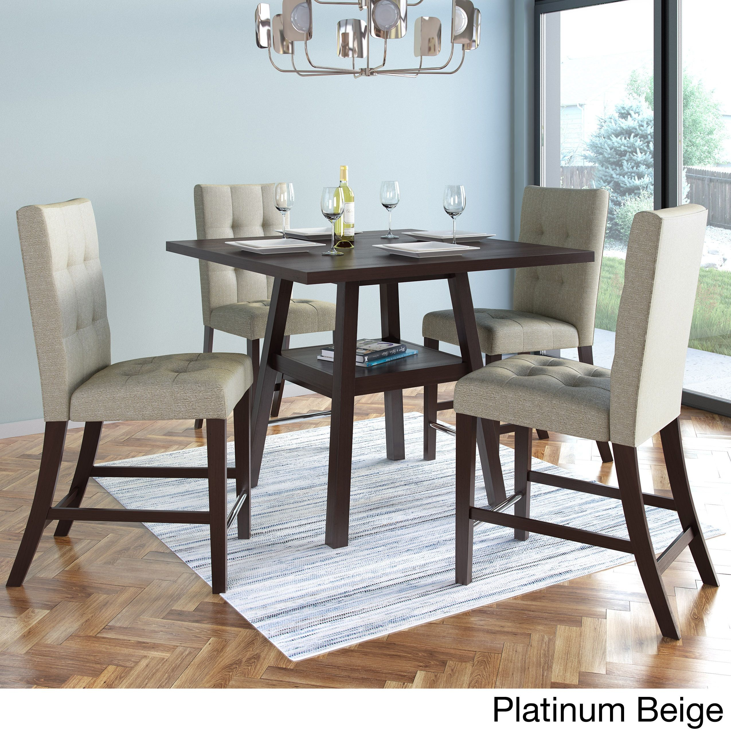 Prime Corliving Bistro 36 Inch Counter Height Cappuccino Dining Gmtry Best Dining Table And Chair Ideas Images Gmtryco