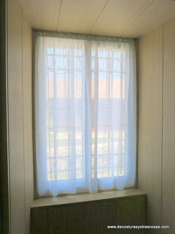 Como hacer visillo paso a paso cortinas pinterest - Visillos para puertas ...