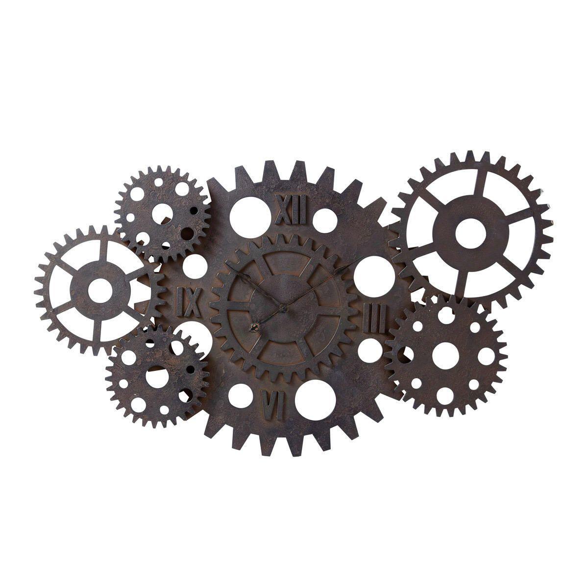 Horloge Industrielle Maison Du Monde Auch Inspirant: Horloge Indus à Rouages Effet Rouille D 125 Cm