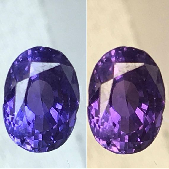 5d26a0fdadf76 GIA Certified No Heat Natural Color Change Sapphire 1.65 cts 5x7mm ...