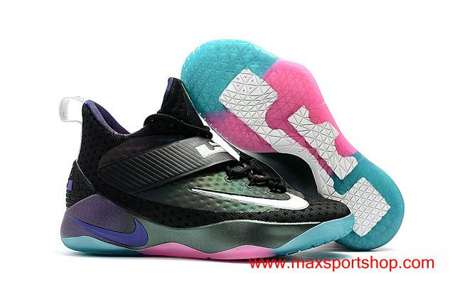 f541225637ac Nike LeBron Ambassador X Chameleon Black Colorful Bottom Men s Basketball  Shoes  82.00