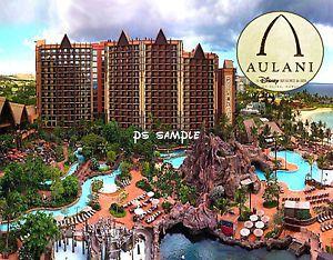 Hawaii Aulani Disney Resort Travel Souvenir Flexible Fridge Magnet