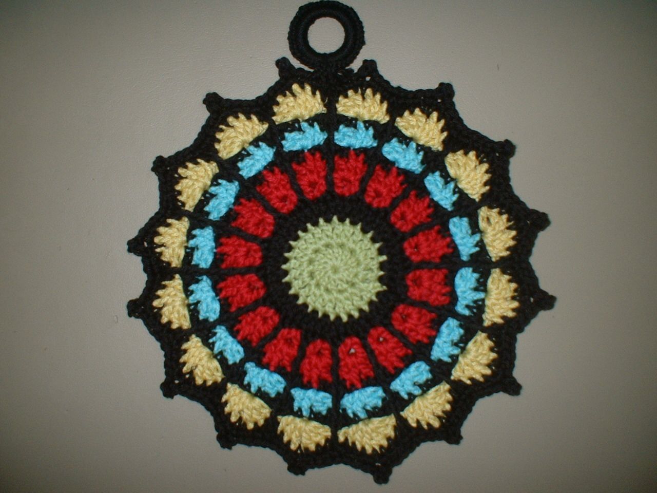 Chronicles of Yarnia: Gothic Stained-glass Potholder. | Crochet or ...