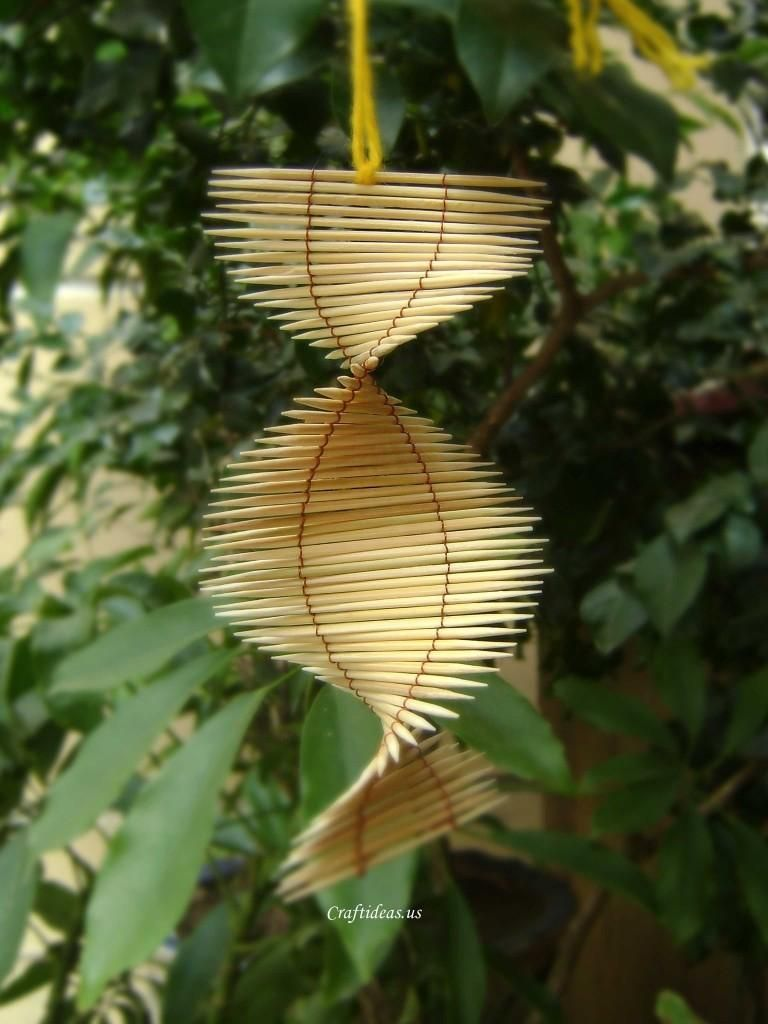 Diy Toothpicks Mobile Toothpick Crafts Crafts Paper Crafts Magazine