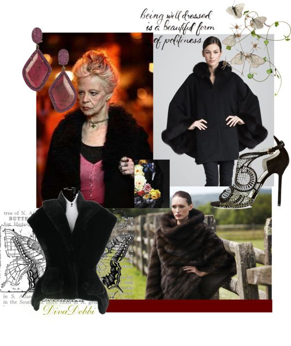 """Updating Aunt Agatha's Old Fur Coat..."" by divadebbi on Polyvore"