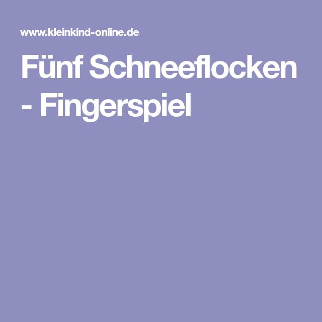 Fünf Schneeflocken - Fingerspiel