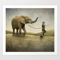 Art Print featuring Friends for life by vin zzep