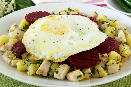 Pinner said: This week we contributed a classic #Swedish #recipe with a little twist to lovefood.com: Brits will love Pyttipanna - its basically a hodge podge of food similar to bubble n squeak, which calls for potatoes, chicken and beetroot, amongst other things.