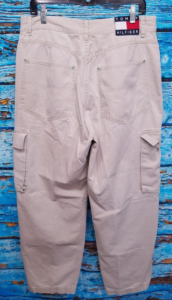 f90bb6ca Tommy Hilfiger Mens 90's White Big Flag Baggy Hip Hop Cargo Pants 34x32  (34x30) | Clothing, Shoes & Accessories, Men's Clothing, Pants | eBay!