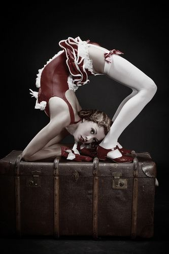 """When I said I would bend over backwards, I meant it metaphorically. Are you satisfied now? I love you and I would ... well you know."" ~ (circus act )"
