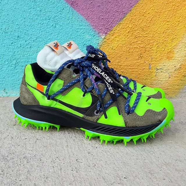 Nike Zoom Terra Kiger 5 Off White Electric Green Size Wmns