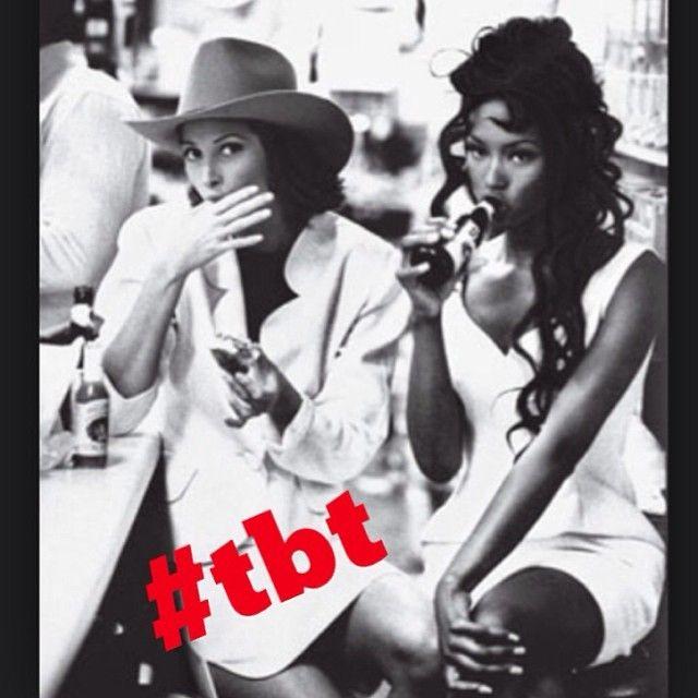 Original Super Models #Christy #Naomi circa 1985 #tbt #Vogue