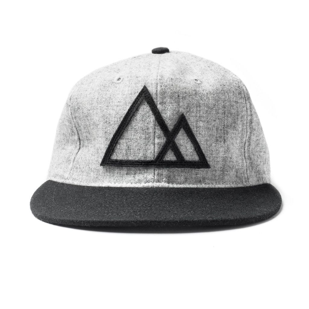 8afa20a4314 Mountains Baseball Cap (Gray Black)