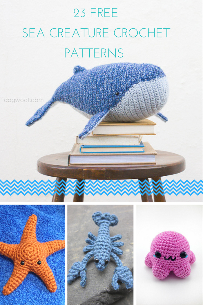 23 Free Crochet Patterns: Sea Creatures   Dolls   Pinterest