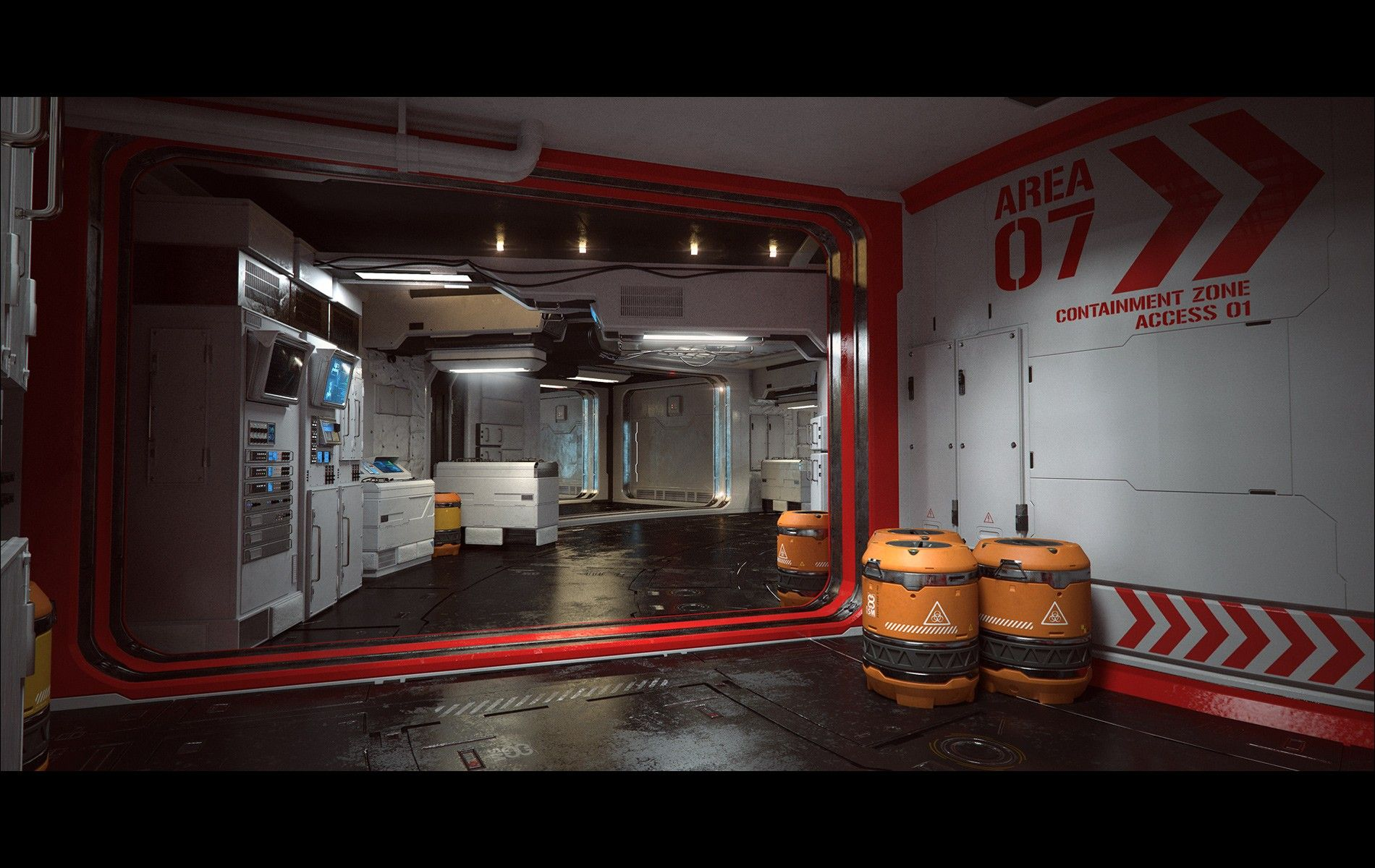 Containment Zone 3d Models And 3d Software By Daz 3d Interieur