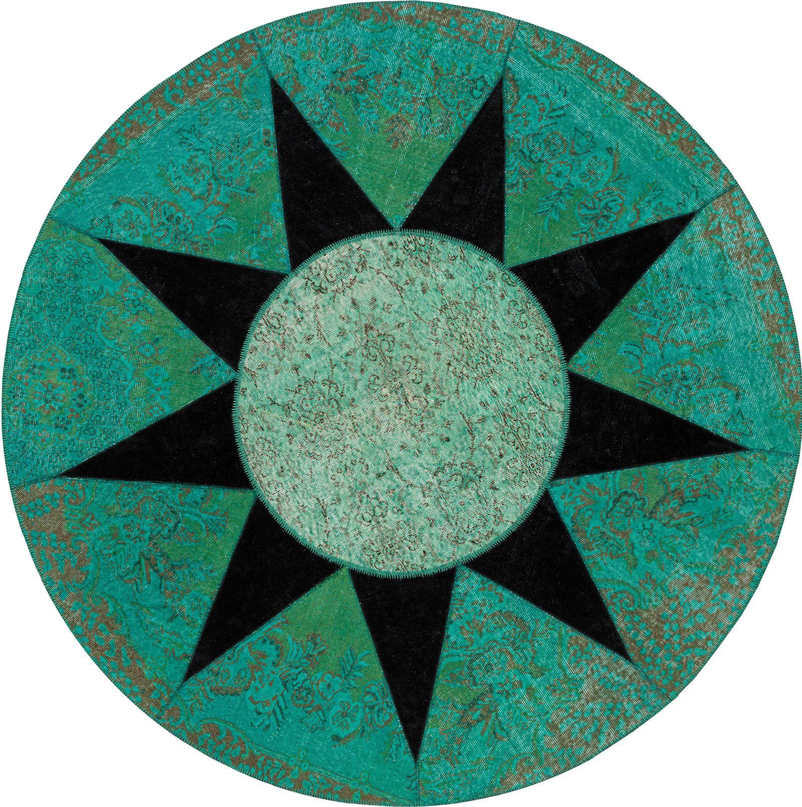 Star tappeto contemporaneo rotondo Tappeti contemporanei