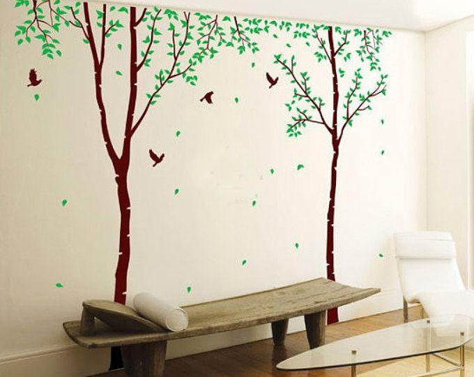VIVEROS abedul árbol calcomanía abedul árbol de vivero de | Bebes ...