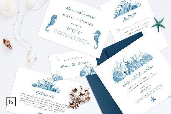Nautical Wedding Invitation Kit by NinaDolgopolova on ...