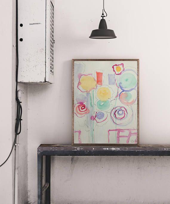 ORIGINAL AQUARELL Aquarellmalerei Art Kunst Wandkunst Bild abstrakt  Watercolour moderne Kunst abstrakte Malerei