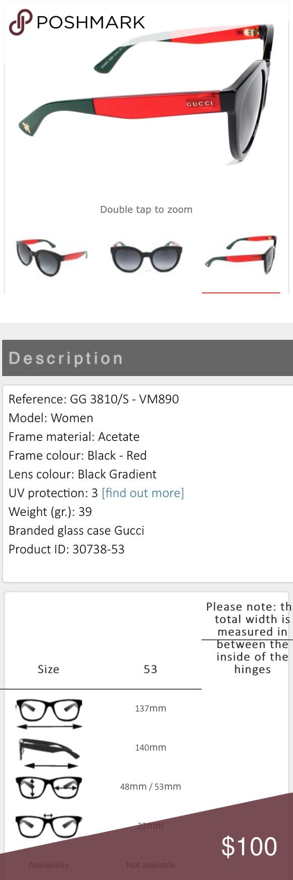 21360b29e3e NEW GUCCI Sunglasses GG381 -VM890(Black