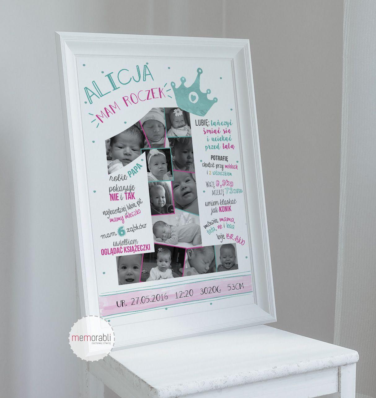 Metryczka Plakat Dla Dziecka Na Pierwsze Urodziny Plakat Prezent Na Sciane Grafika Obrazek Dla Dziecka Pokoj Pa With Images Kartki Urodzinowe Urodziny Tworczy