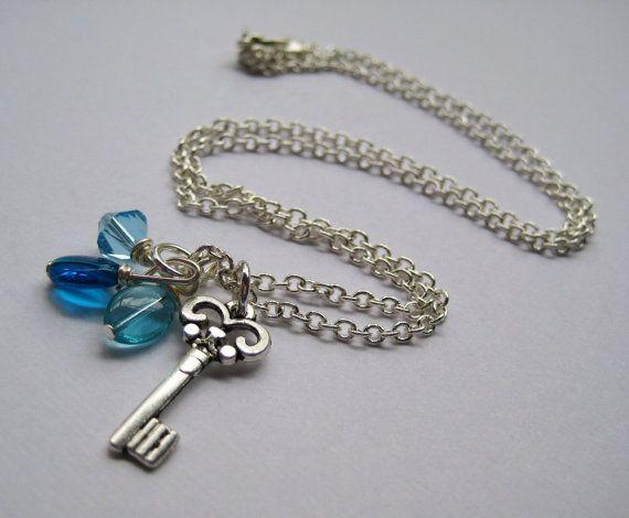Key Charm Necklace by eleven13jewelry