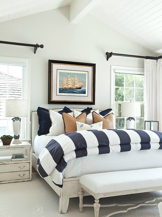 10 awesome classic master bedroom designs | coastal/nautical look