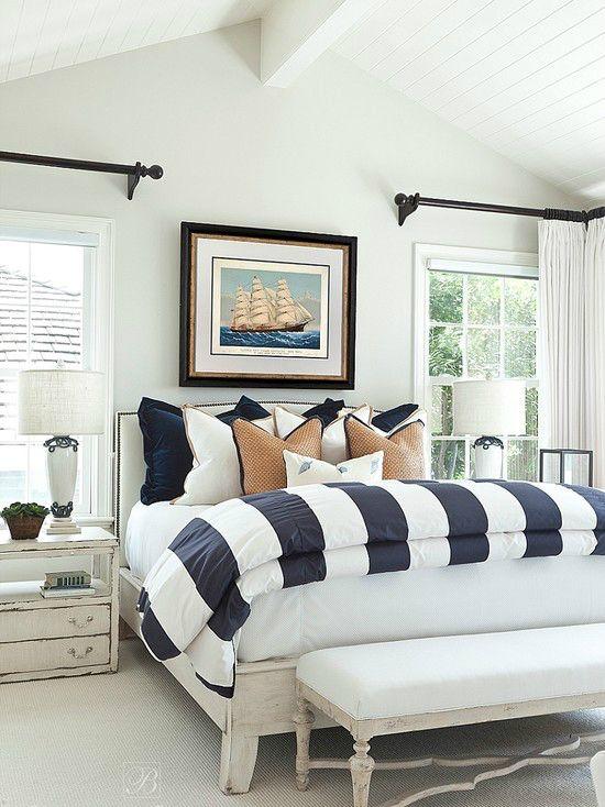 Merveilleux Classic Master Bedroom Design 6 Love This Classy Nautical Theme!