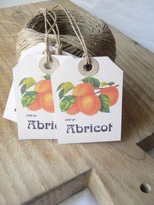 Etiquette abricot