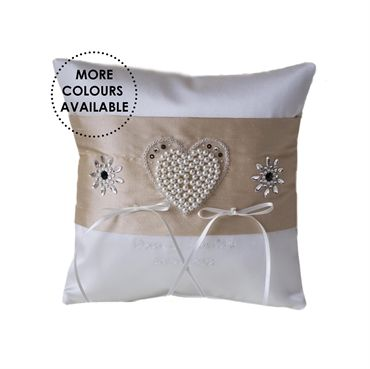 Wedding Ring Cushions Personalised