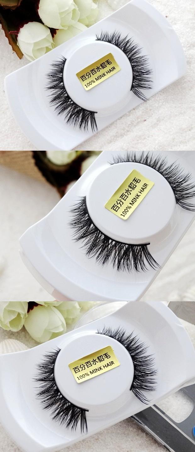 0bd4dfc6c3c [Visit to Buy] Free shipping 100% 3 D real mink lashes siberian mink fur  eyelash thick false eyelashes mink lashes extension #Advertisement